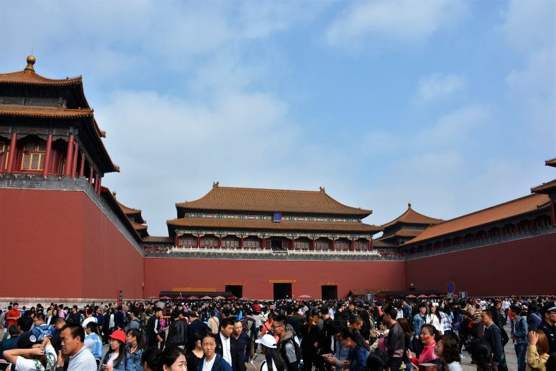 beijing forbidden city huge amount of people
