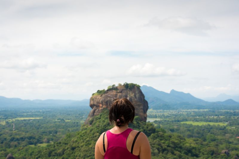 view from pidurangala over sigiriya