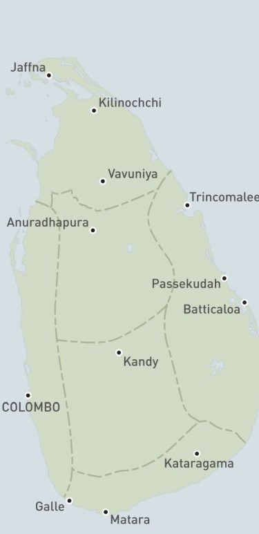 regions of sri lanka to visit