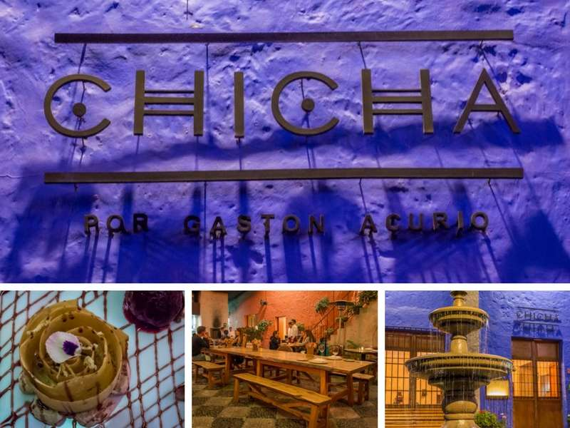 Exterior and interior of restaurant Chicha top destination for foodies in Arequipa