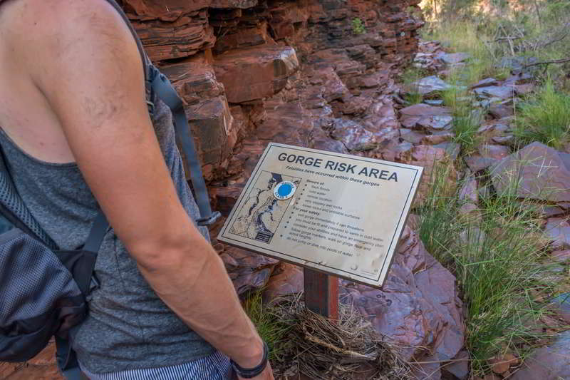hancock gorge warning karijini