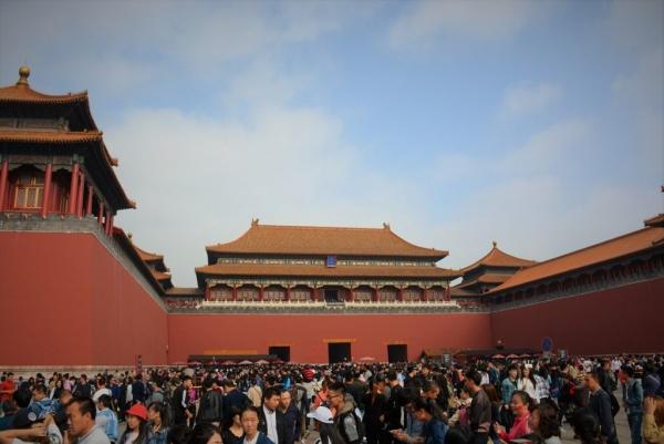 Forbidden city Beijing crowded