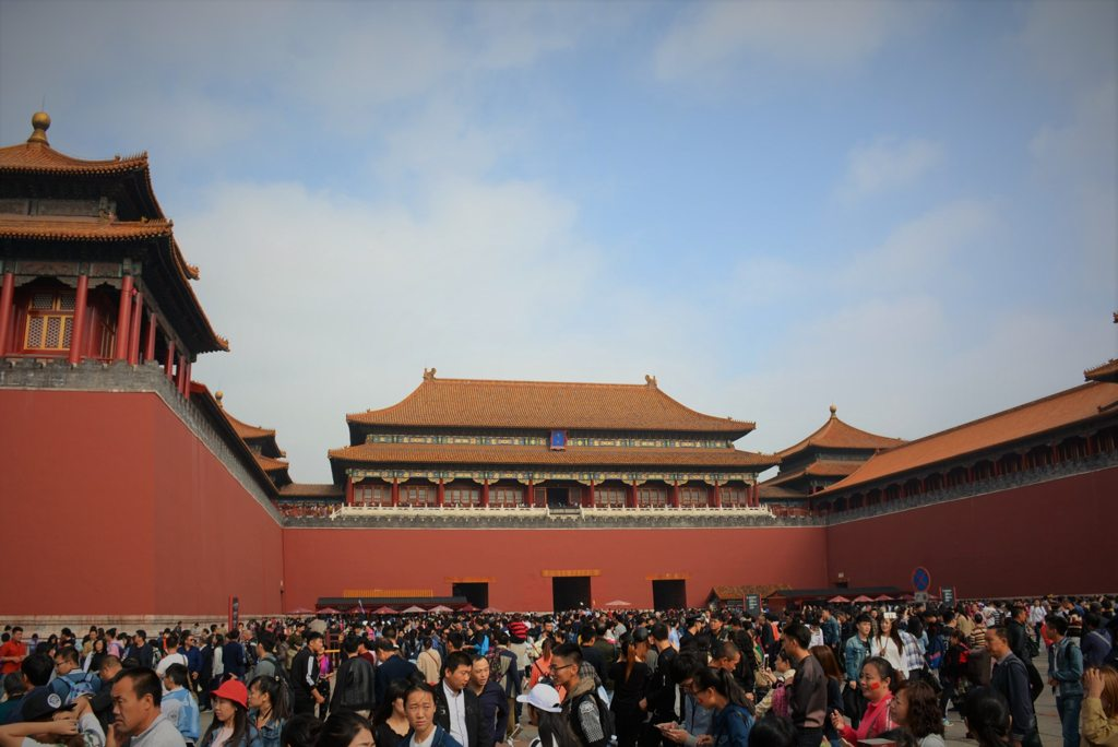 Forbidden city Beijing crowded