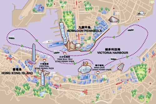 hong kong route map star ferry