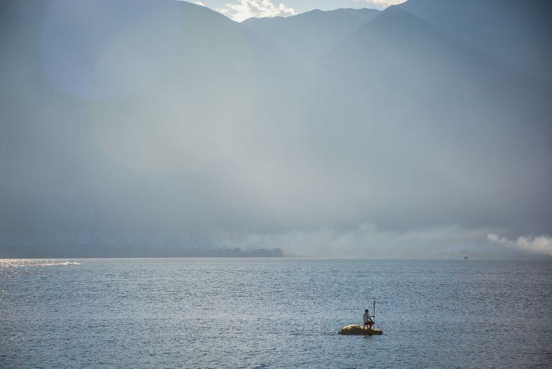 china dali erhai lake fisherman