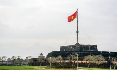 vietnam hue citadel vietnamese flag