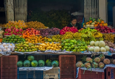 laos luang prabang fruit stall