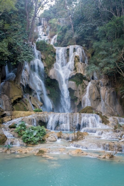 laos luang prabang kuang si waterfall big