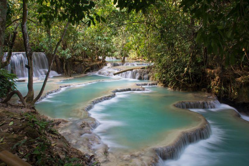 laos luang prabang kuang si waterfall