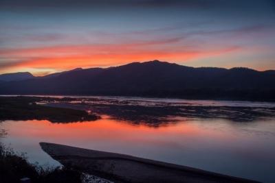 laos luang prabang sunset