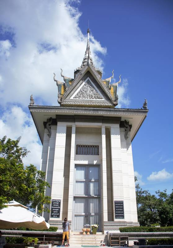 memorial monument at the killing fields in Phnom Penh