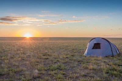 camping spot when traveling the Gobi desert