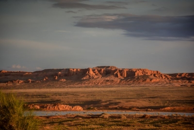 mongolia gobi desert flaming cliffs sunset