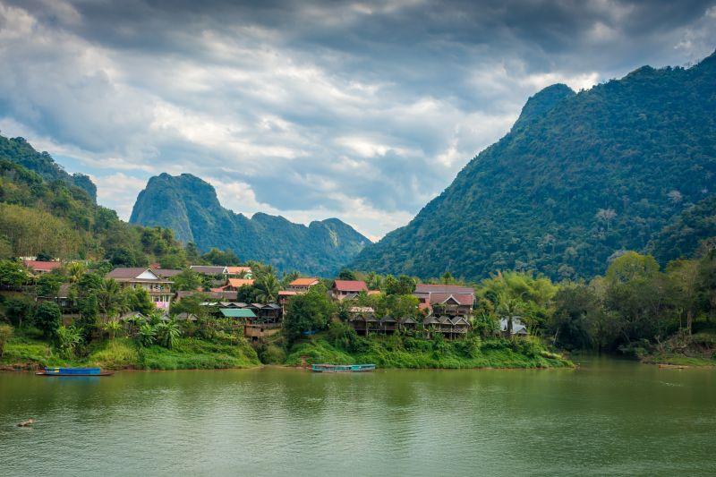 laos nong khiaw city view
