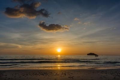 cambodia sihanoukville otres beach sunset