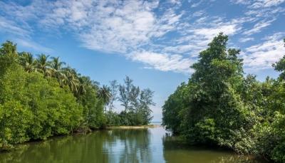 sihanoukville cambodia ream national park river