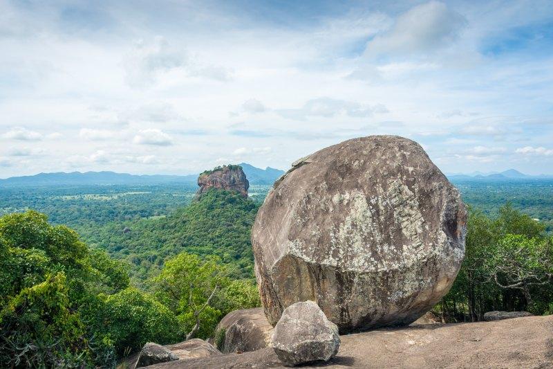 Dambulla sigiriya lion rock in Sri Lanka