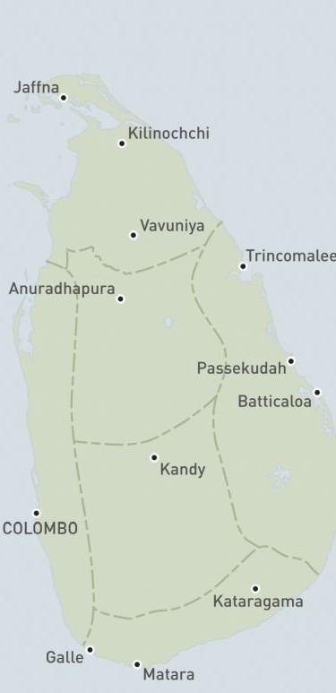 regions of sri lanka to visit