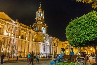 catedral of Arequipa by night