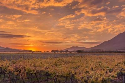 sunset elqui valley