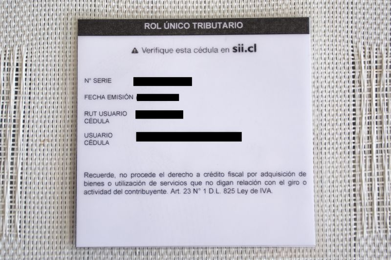 rut number chile id card