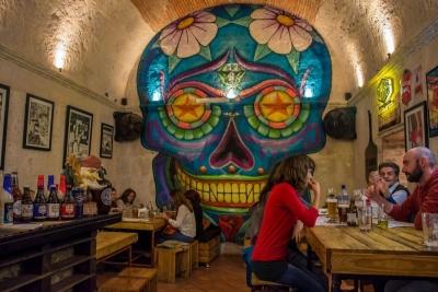 Las gringas interior restaurant in Arequipa
