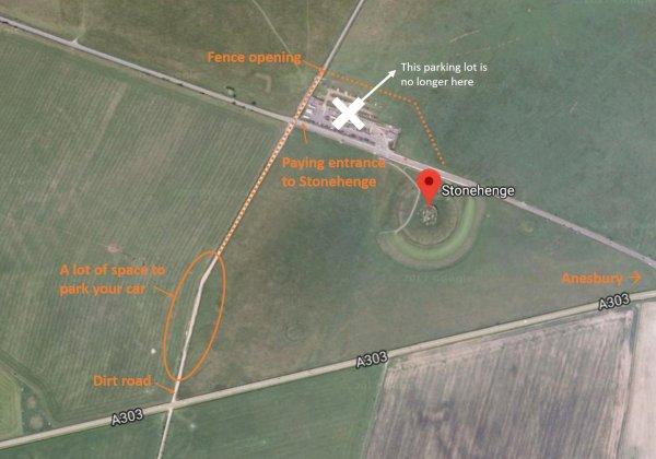free visit stonehenge map