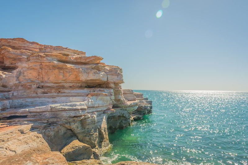 western australia broome cliffs dinosaur