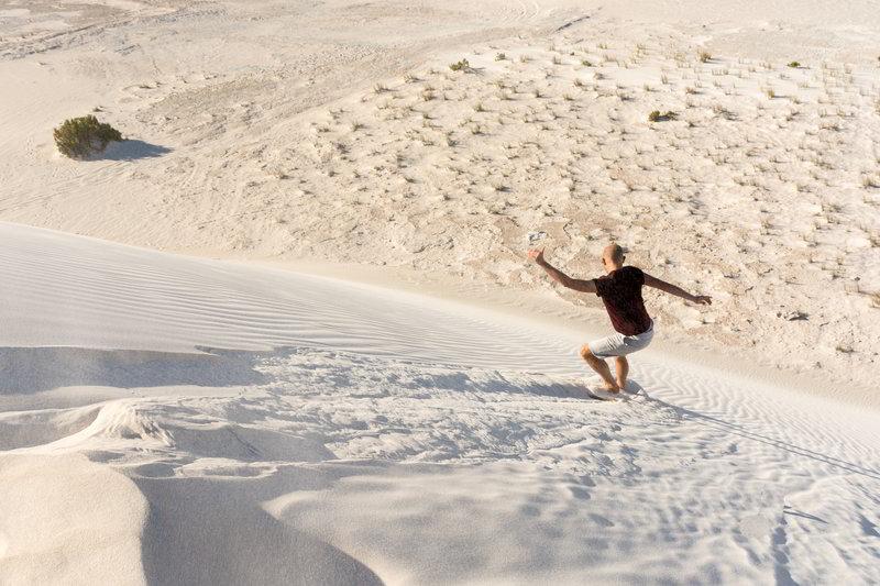 western australia lancelin sand dunes boarding