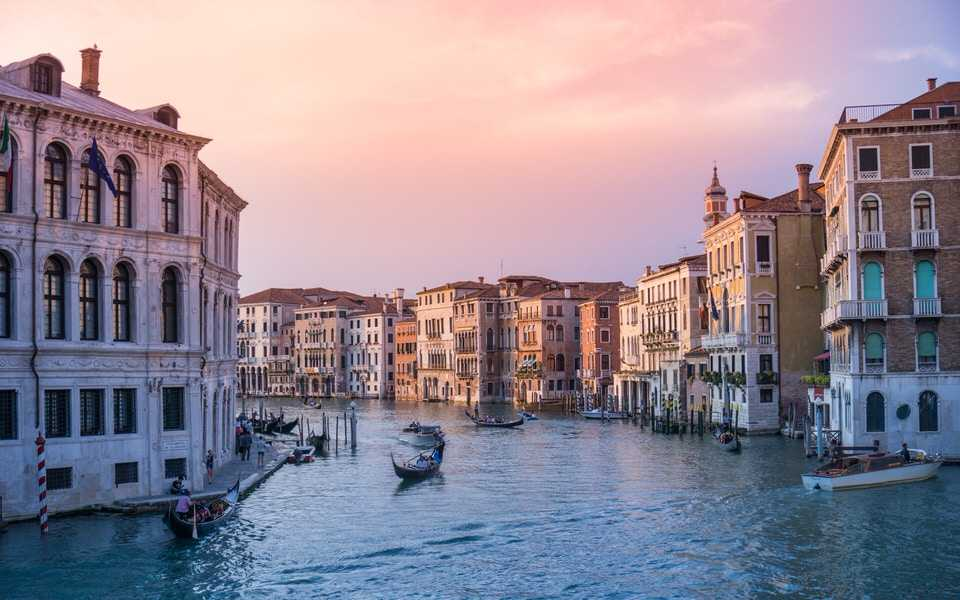 Europe Rialto Bridge Venice Italy
